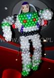 Balonowy Buzz Astarl w kinie na promocji kolejnego odcinka serii Toy Story.