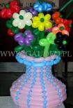 Balonowy wazon z bukietem.