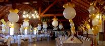 Balony olbrzymy i stroiki helowe na bal z okazji sylwestra.