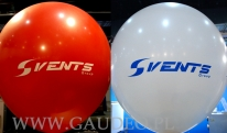 Balony olbrzymy z czterostronnym nadrukiem.