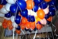 Balony reklamowe napełnione helem  gotowe do rozdawania.