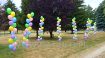 Pastelowe balony napełnione helem.