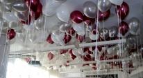 Balony z helem przygotowane do rozdawania.