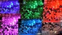 Balony helowe z podświetleniem.
