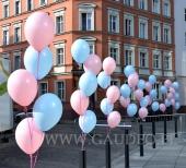 Stroiki z balonów helowych jako dekoracja na imprezę.