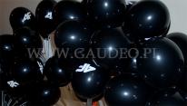 Balony z logo, nadmuchane i założone na patyczki.