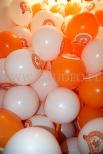 Balony reklamowe na patyczkach przygotowane do rozdawania.
