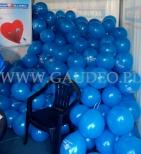 Balony z nadrukiem przygotowane do rozdawania.