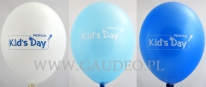 Balony z nadrukiem ze zmianą koloru nadruku.