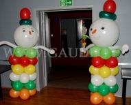 Bałwankowe stroiki balonowe.