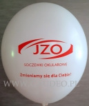 Balon z nadrukiem dla JZO.