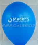Balon z nadrukiem reklamowym wykonanym dla kliniki stomatologicznej.