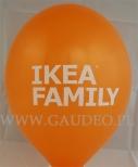 Balon z nadrukiem reklamowym dla Ikea.