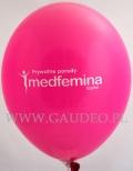 Logo medfemina namalowane na balonie.
