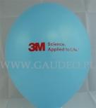 Błękitny balon z czerwonym nadrukiem reklamowym dla 3M.