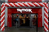 Brama balonowa na otwarcie nowego sklepu sieci TK-Maxx.