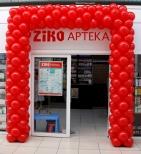 Brama balonowa na otwarciu apteki we Wrocławiu.