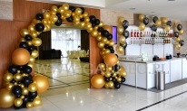 Balonowa dekoracja sylwestrowa w Hotelu Haston.