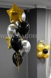 Balony z helem ułożone w bukiet.