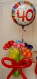 Bukiet z balonów na 40 urodziny.