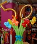 Bukiet z balonów na 50 urodziny.