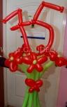 Bukiet z balonów na 75 urodziny.