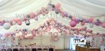Dekoracja balonami z okazji 18-stki.