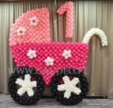Wózek balonowy na 1 urodziny.