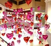 Walentynkowa dekoracja balonowa.