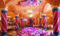Dekoracja z balonów w stylu Disco.