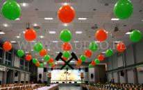 Dekoracja balonowa imprezy z okazji barbórki.