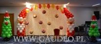 Balonowe dekoracje Świąteczne w Novotelu.