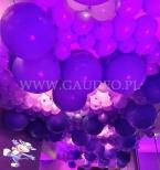 Balony z helem na bankiecie firmy Milka w hotelu Przystań w Olsztynie.