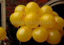 Dmuchamy balony i zakładamy je na patyczki.