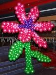 Duży kwiat z balonów na imprezie dla dzieci.