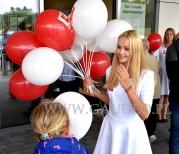 Rozdawanie balonów na patyczkach w Siemianowicach Śląskich.