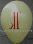 Indywidualny nadruk na balonie.
