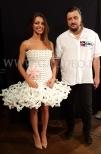 Sukienka z balonów zaprezentowana w programie Mam Talent przez pana Jana Karolewskiego.