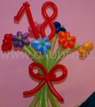 Kolorowy bukiet balonowy na 18.