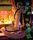 Kotwica z  balonów na evencie tematycznym podwodny świat.