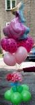 Księżniczkowy bukiet z balonów helowych dla dziewczynki.