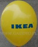 Logo Ikea wydrukowane na balonie.