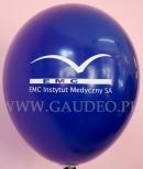 Logo wydrukowane na balonie.