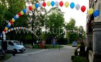 Łuki z balonów z helem na Wrocławskim pikniku.