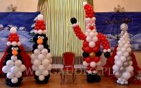 Balonowa dekoracja na Mikołajki.