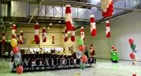 Wigilijna dekoracja balonowa.
