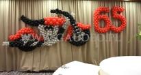 Balonowy motor z okazji urodzin.