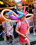 Balonowy motylek dla dziewczynki.