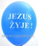 Jednokolorowy nadruk na balonie.