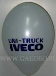 Nadruk logo Iveco wykonany na balonie.